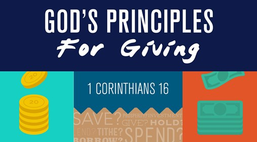God's Principles for giving banner